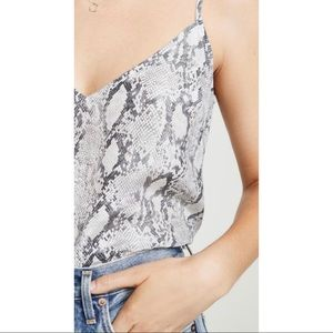 Frame Snakeskin Print Silk Camisole Size Medium